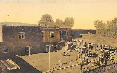 Taos New Mexico~Oldest House~Old Wagon in Back Yard~1920s Albertype Postcard