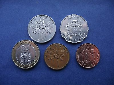 A Small Collection of 5 Different Jamaican Coins