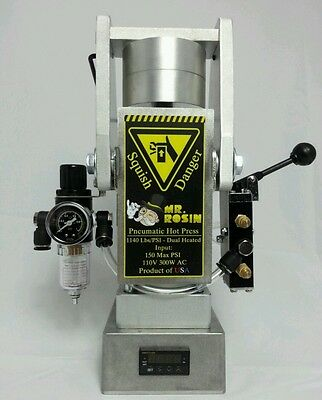 Mr. Rosin Pneumatic portable hot press 1140psi NEW MADE IN USA
