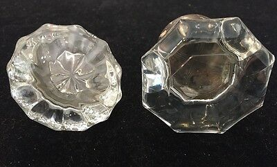 2 ANTIQUE /VINTAGE Early 1900's  GLASS DOOR KNOBS
