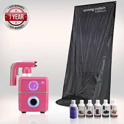 Tanning Essentials™ Rapid 'Fuchsia Pink' Spray Tan complete Kit with Curtain