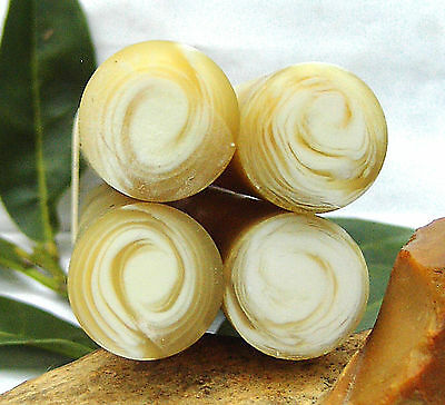 4 Rods Old GALALITH ****  HORN SPIRAL Center Cream **** Diam 22,5 mm