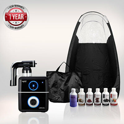 Tanning Essentials Rapid Complete Spray Tan Kit ' Black' + Tent + Suntana Tan