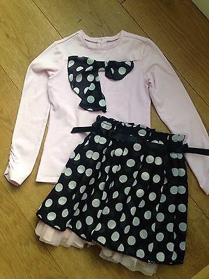 Deux Par Deux Top and Skirt Set Age 5 (RRP £65)