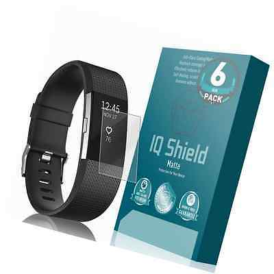 Fitbit Charge 2 Screen Protector (6-Pack), IQ Shield Matte Full Coverage Anti-Gl