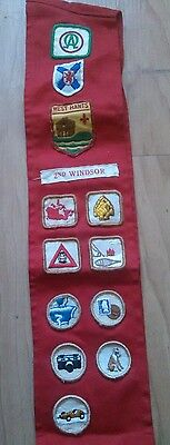 Vintage Boy Scouts Canada Lot of Patches Badges Sash