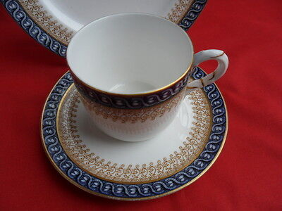 Royal Worcester, antique (c1900) Blue & White Coffee Trio REDUCED!