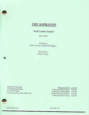 """THE SOPRANOS show script...""""Full Leather Jacket"""""""