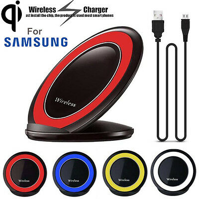 Qi Wireless Fast Charger Charging Stand Dock For Samsung Galaxy S6 S7 Edge Note