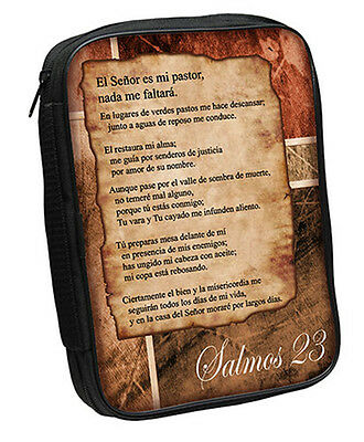 Psalm 23 Bible Cover, Brown, Spanish, Large