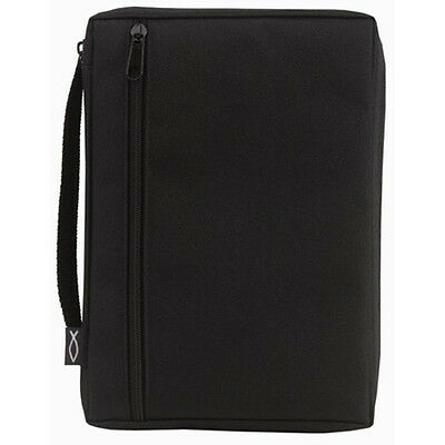 Canvas Bible Cover, Solid Black, Small
