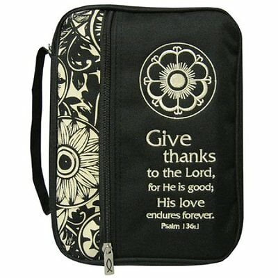 Give Thanks Bible Cover, Extra Large