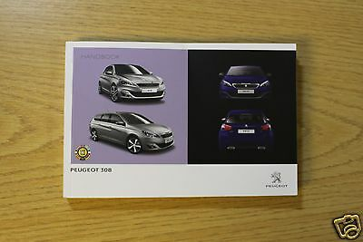 Peugeot 308 And 308 Estate Owners Manual Handbook 2013-2015