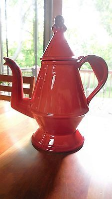 """Metlox #400 """"Red Rooster Red""""  Provincial Shape Coffee Pot/lid"""