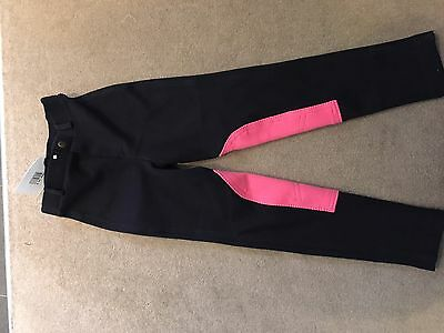 Girls Black And Pink Jodhpurs BNWT Age 8/9