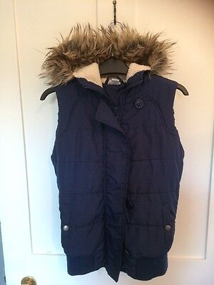 Navy Blue Hooded Gilet (age 13 Years)