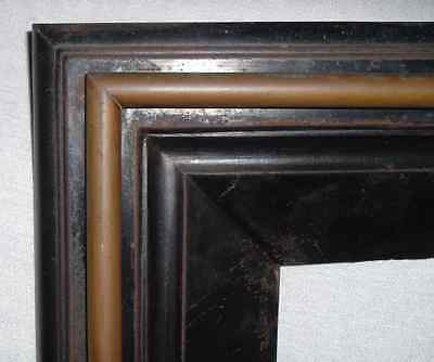 "Antique FIREPLACE SURROUND CAST IRON & BRASS *WALSH #55 OUT; 30""x33"" IN; 18""x27"""