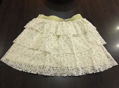 Great Cond Kylie At M&co Girls Cream Skirt Age 9-10 Years