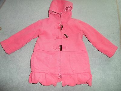 Girls pink duffle coat age 18-24 months