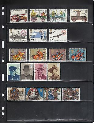 Gb 1974-1975-1976 : 54 Used Stamps, Includes 9 Sets  Used