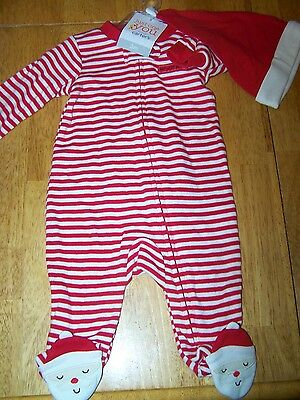New Carters Baby 2 pc Santa My First Christmas Outfit Hat Size 3m 3 Months