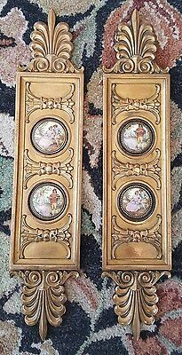 Rare Pair of Outstanding Large ANTIQUE Victorian Brass or Bronze Push Plates