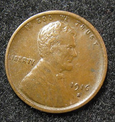 Better Date 1916-S Lincoln Wheat Cent Xf/au