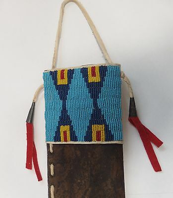 Sioux beaded knife case, 1870 style
