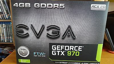 EVGA NVIDIA GeForce GTX 970 FTW FACTORY OVERCLOCKED Graphics Card 4096 MB