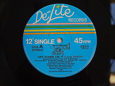 """KOOL AND THE GANG - GET DOWN ON IT / SUMMER MADNESS 12"""" VINYL UK 1981 Original"""