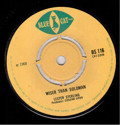 Lester Sterling - Zigaloo / Wiser Than Solomon -  Blue Cat