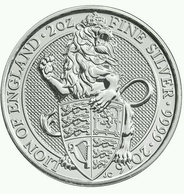 2016 Uk Queens Beast The Lion 2 Oz Coins ++ In Stock Now ++