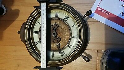 "Very old brass Alarm clock  6"" project for renovation"