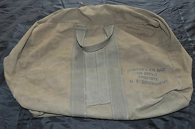 WW2 AN6505 USAF Flyers Aviator's Canvas Kit Bag US Government