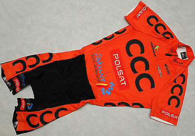 CCC POLSAT - QUEST - LA FONTE - genuine PRO TEAM short sleeve SKINSUIT - size S
