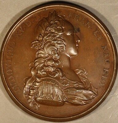 1723 France Louis XV Imperium Stable Medal Nice        ** FREE U.S. SHIPPING **