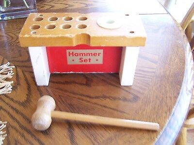 Hammer Set wood toy! Includes hammer!