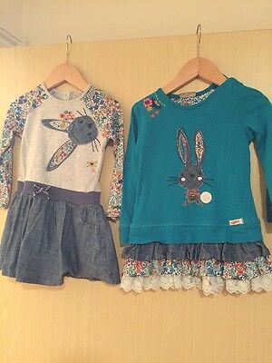 Next Teal Bunny Tunics 1.5-2years 18-24 Months