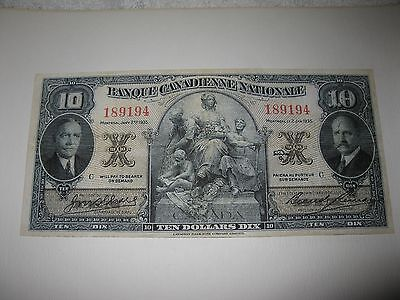 Banque Canadienne Nationale $10.00 Face Proof 1935