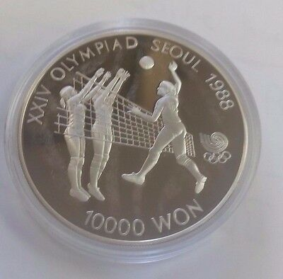 1988 Seoul Olympics Proof 10000 Silver Coin Volley Ball