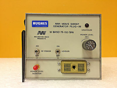 Hughes 47610H-5100, W Band: 75 to 100 GHz, Full MM-Wave Sweep Generator Plug-In