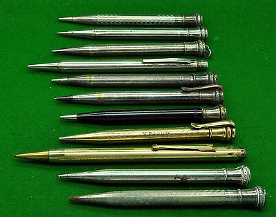 Huge Collection of 11 Vintage Wahl Eversharp Pencils. Most work perfectly