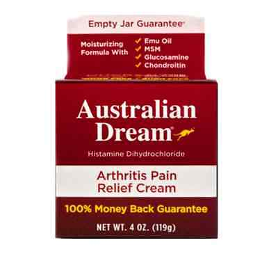 Australian Dream Arthritis Pain Relief Cream 4 oz FREE SHIP!!