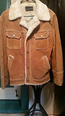 Genuine Split Cowhide Leather Coat /Jacket Lined/Western style  Tag Size 36