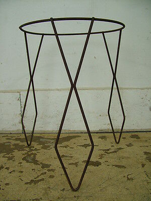 Old Vintage Metal Wrought Iron Hairpin Style Tray Bowl Stand Base Steampunk Retr