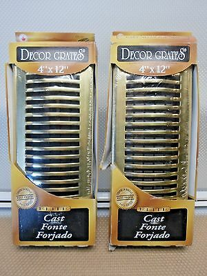 "Set 0F 2==Decor Grates  4"" X 12"" Elite Brass ""rust Proof""   Hsl412"