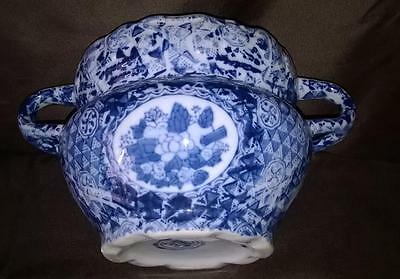 Rare - Blue & White - Chinese Pot - Unusual Handles - Unidentified Mark - Help