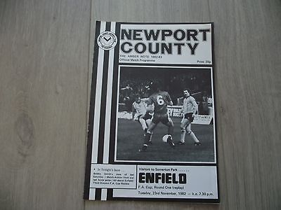 1982-83 Newport v Enfield  - F.A. Cup Round One Replay