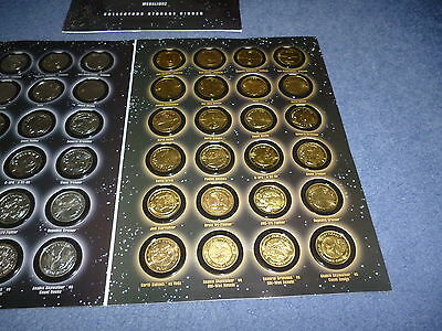A Full Set Of Silver &  Gold Coloured Coins Star Wars R.o.t.s In A Folder