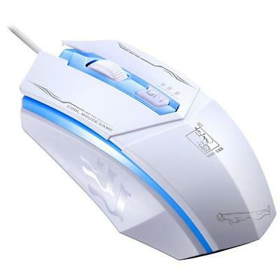 Professional 1600DPI LED Optical Wired Gaming Mouse for Pro Gamer White